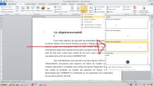 Numerando páginas no Word - Escolhendo o formato da numeração, no caso inferior à direita