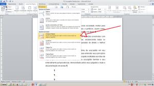 Numerando páginas no Word - Inserindo quebra de seção