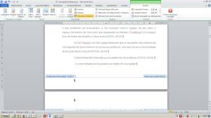 Numerando páginas no Word - Visualizando a posição do cursor