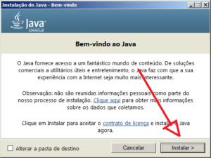 Seguindo na instalação do Java