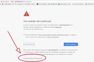 Site PJe Inseguro